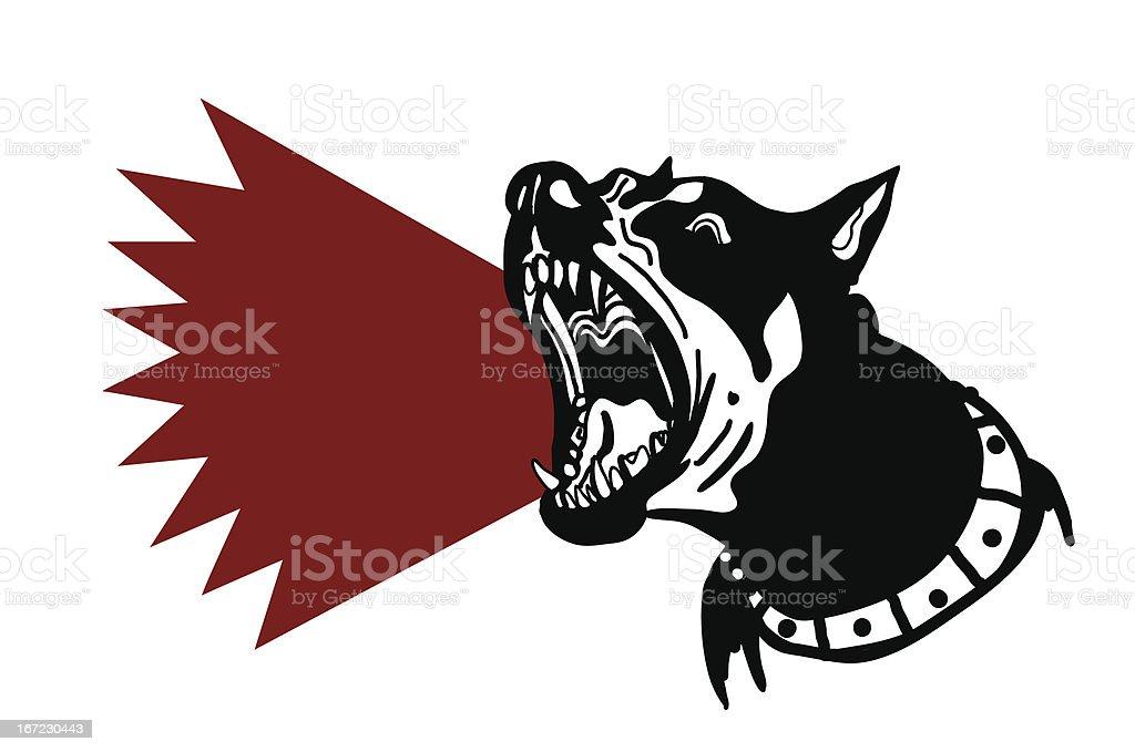 dog barking vector art illustration