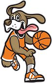 vector of dog basketball mascot