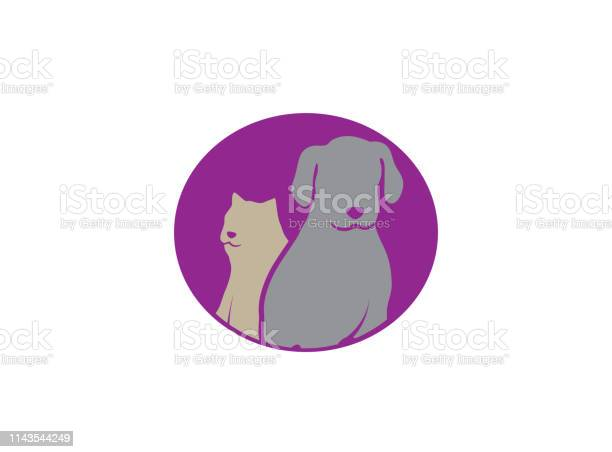 Dog beside cat a friendly pet family logo design illustrator vector id1143544249?b=1&k=6&m=1143544249&s=612x612&h=zhkqc4dn6uoqkpglw qzzr2fsowlnps4tnfeegwxt9s=
