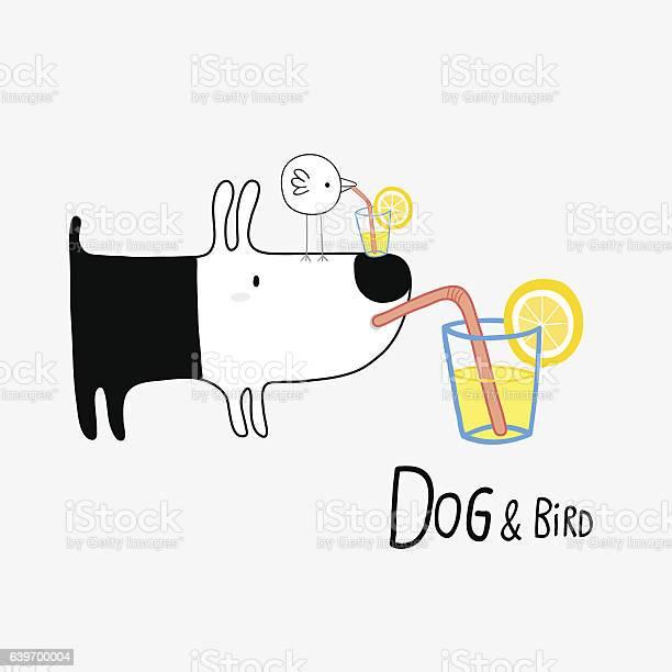 Dog bird drinking lemonade vector illustration vector id639700004?b=1&k=6&m=639700004&s=612x612&h=pl4rmmfbtp rh77l2mu ygfyomt0oabqgvzuapckpvo=
