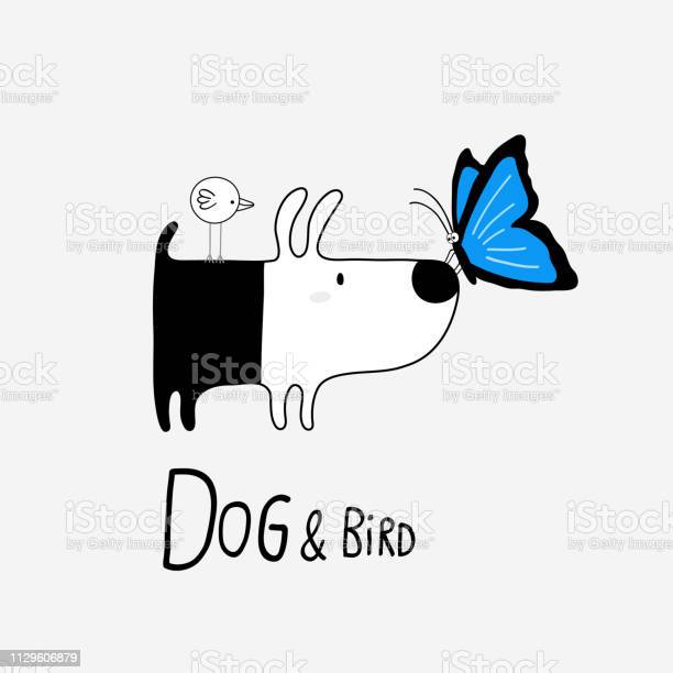 Dog bird with a blue morpho butterfly vector illustration vector id1129606879?b=1&k=6&m=1129606879&s=612x612&h=m1b4ce6dbp2o8u1uxakmwwwfrb6dywggbnqkwgjvmve=