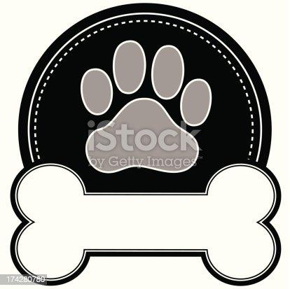 istock Dog Bone and Paw 174280780
