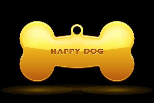hundeknochen-kragen - hundehalsbänder stock-grafiken, -clipart, -cartoons und -symbole
