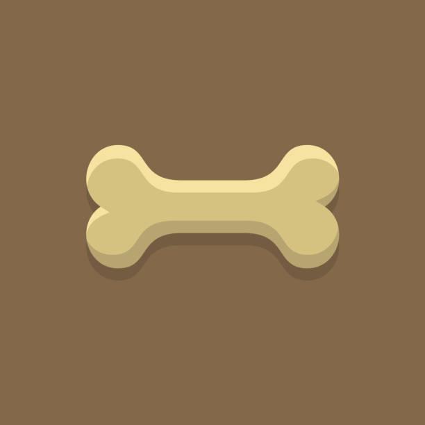 stockillustraties, clipart, cartoons en iconen met dog bone cookie - hondenkluif
