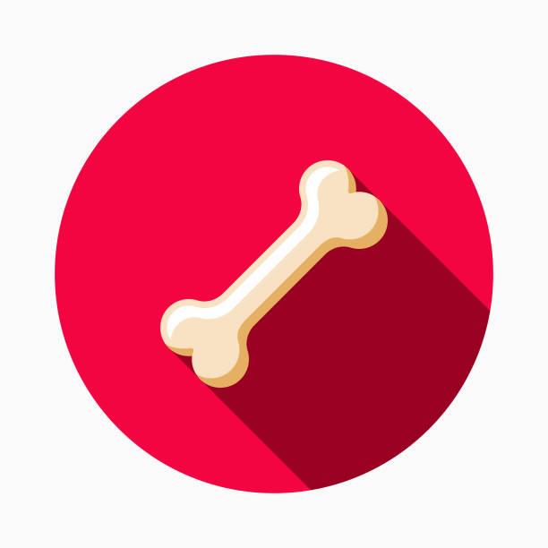 犬骨フラット デザイン ペットケア アイコン - 骨点のイラスト素材/クリップアート素材/マンガ素材/アイコン素材