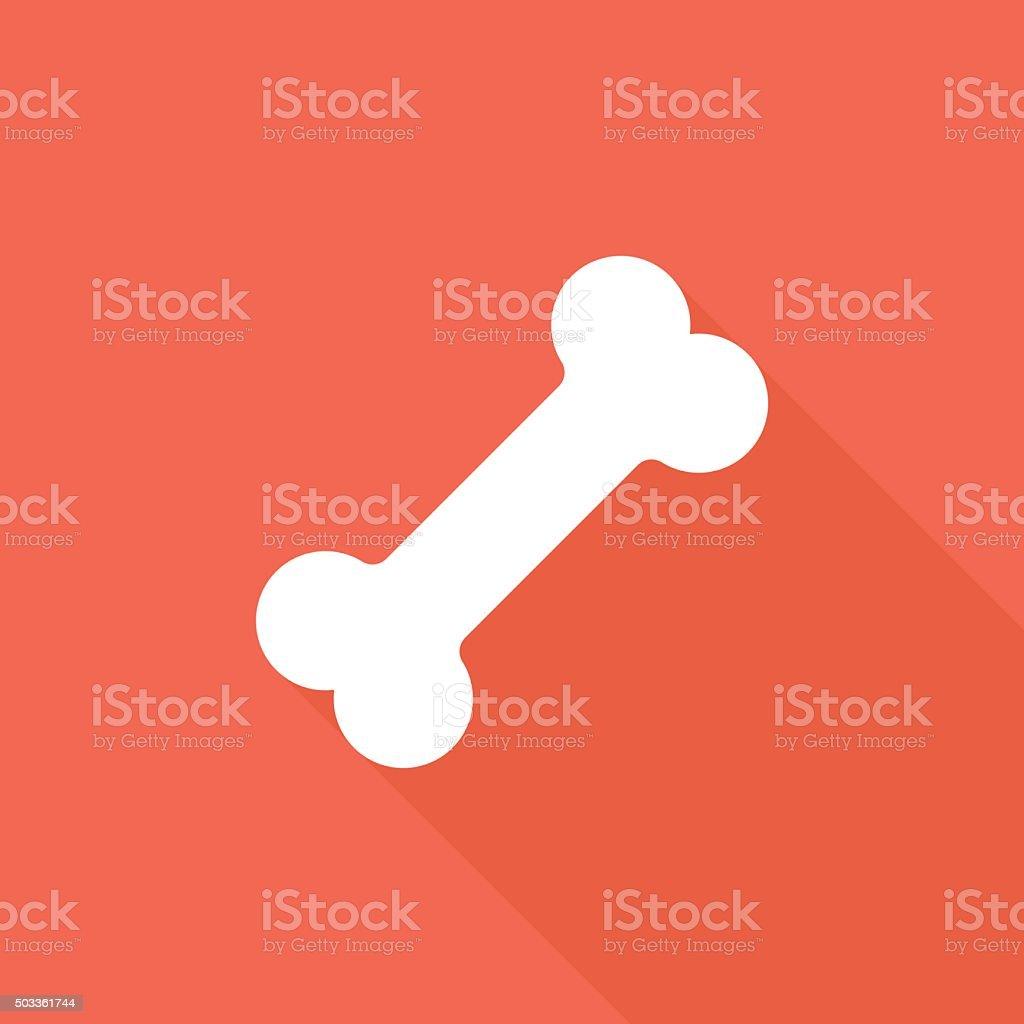 Icono de hueso para perro - ilustración de arte vectorial