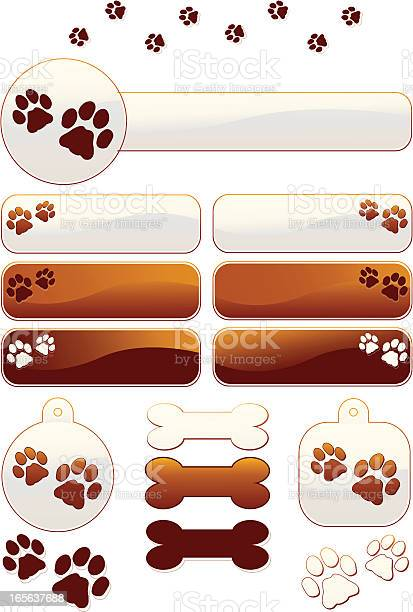 Dog bones and paw prints designs set vector id165637688?b=1&k=6&m=165637688&s=612x612&h=brsoczpjsrm0cluwtj 8dujovps7zikdqxhubsml2a0=
