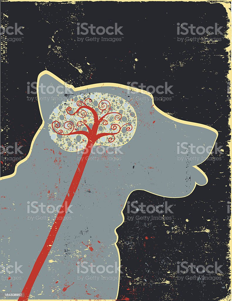 Dog Brain Profile Stock Vector Art & More Images of Anatomy ...