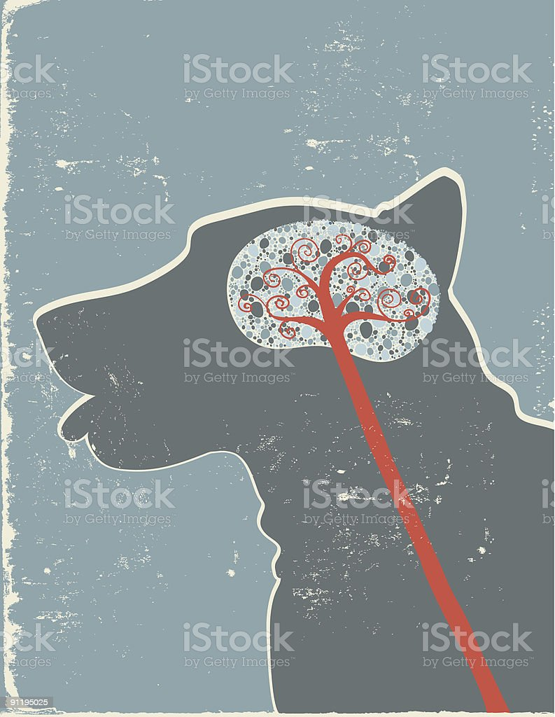 Dog Brain Profile Stock Vector Art & More Images of Anatomy 91195025 ...