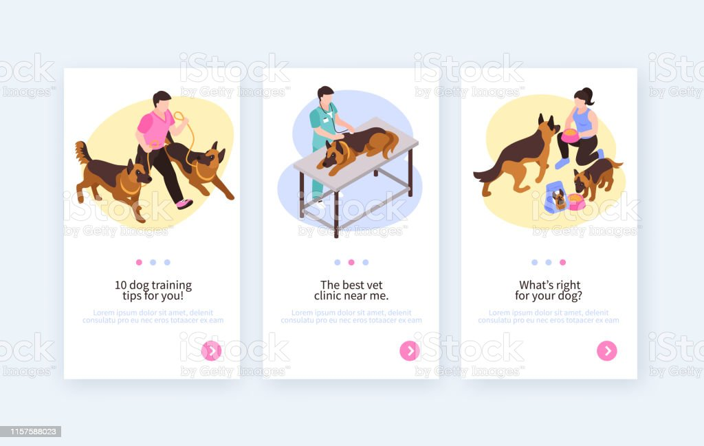 Dog Breeding Vertical Banners Stock Illustration - Download