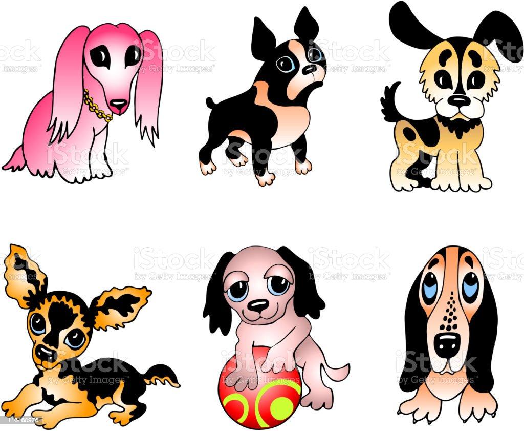 Dog breeds illustration vector art illustration