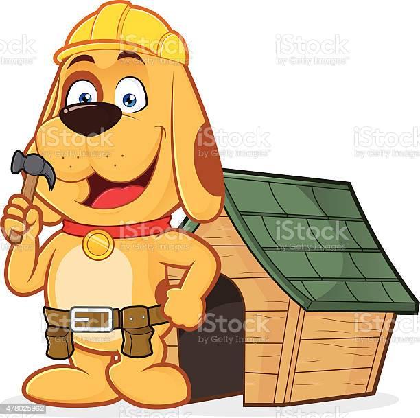 Dog builder with dog house vector id478025962?b=1&k=6&m=478025962&s=612x612&h=naigw4bhut5iqybux9xco mvt1oyergi9i4vlupsmxi=