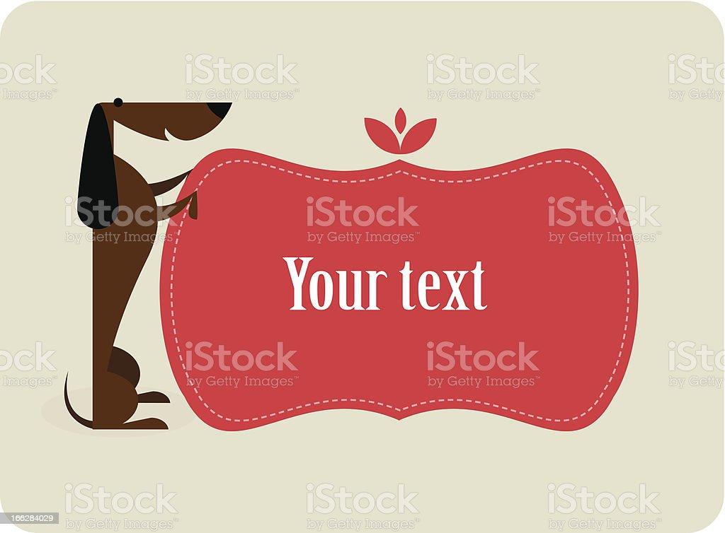 Dog card royalty-free stock vector art