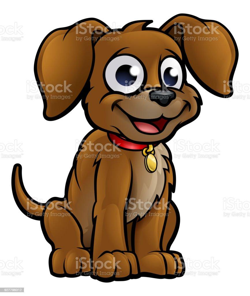 Dog Cartoon vector art illustration