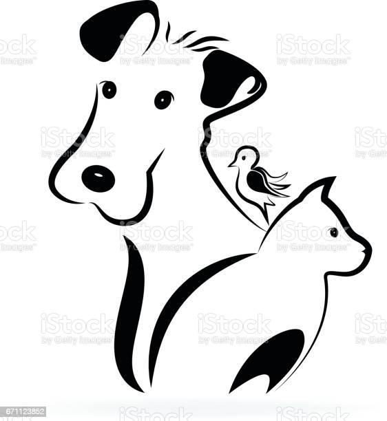 Dog cat and bird icon silhouette image vector id671123852?b=1&k=6&m=671123852&s=612x612&h=44cxscez8xclnuknxmcaj2cb52ykdptvalzbscnfxd4=