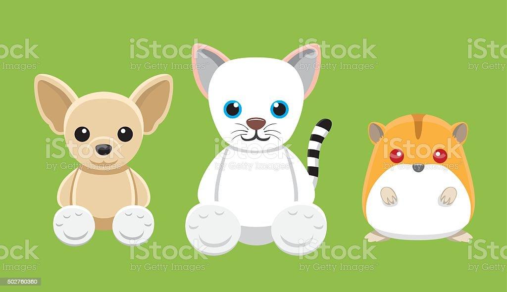 犬猫ハムスターペット人形カットイラストベクトルイラスト 4 2015年の