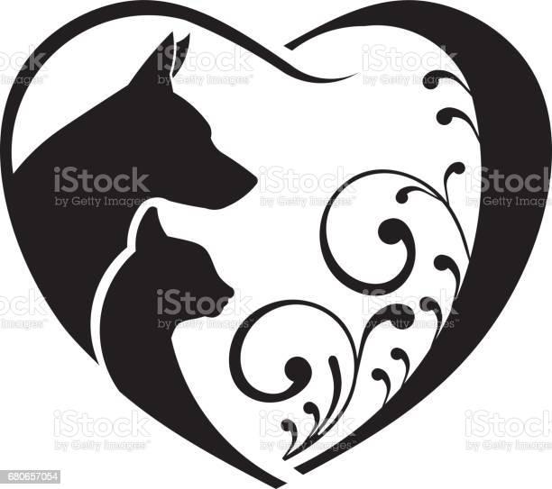 Dog cat heart icon vector id680657054?b=1&k=6&m=680657054&s=612x612&h=1gnbajbgf vx p bur43 fm5q78m2lm3e7zu8eizsfg=