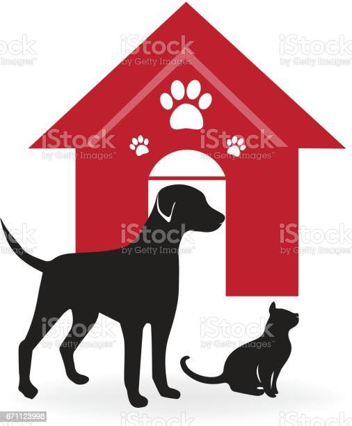 Dog cat house and paws logo vector id671123998?b=1&k=6&m=671123998&s=612x612&h=a8ny15lo8upki9l7mzq4nvuptaty8kmceiojmgvqtyy=