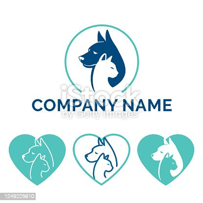 istock Dog Cat logo design 1249225610