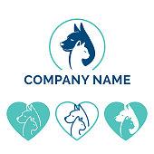 istock Dog Cat logo design 1249225610