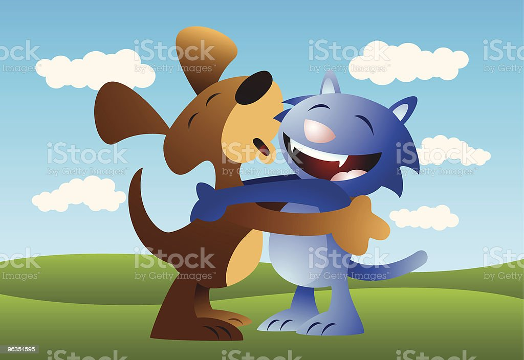 Dog Cat Love royalty-free dog cat love stock vector art & more images of animal
