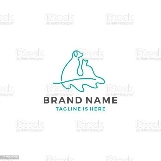 Dog cat oak leaf template vector icon illustration vector id1133617083?b=1&k=6&m=1133617083&s=612x612&h=9yfphwu ghipal5clzjuoki7msz1rfbqvmmjsjpz6z0=