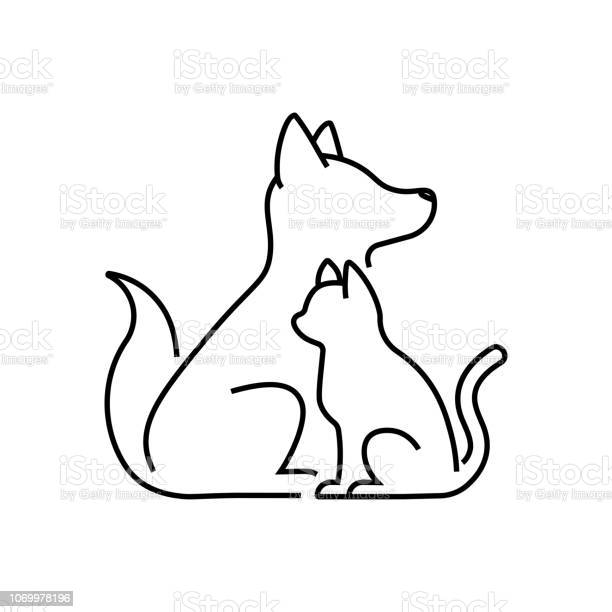 Dog cat pet care outline line art monoline logo vector icon vector id1069978196?b=1&k=6&m=1069978196&s=612x612&h=cvrbfwq7fbasdl1lyd4an0lb5hpytcrzmprkcvsv 1u=