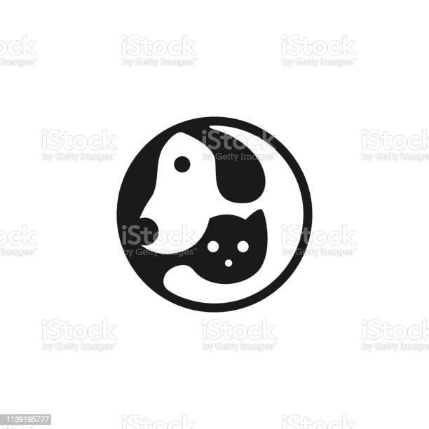 Dog cat pet hugs logo vector icon modern animal badge for veterinary vector id1139195777?b=1&k=6&m=1139195777&s=612x612&h=xenqoiczaxcg8s5lki8a387lfget6ko9njadmsfv y8=