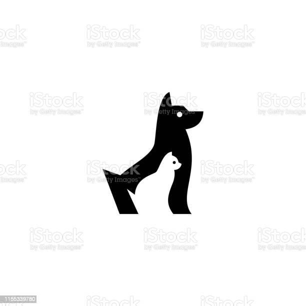 Dog cat pet vector icon illustration negative space style vector id1155339780?b=1&k=6&m=1155339780&s=612x612&h=il iwcmk5ykpu5vbimkknwckabvl0ti8ziqhdbm8ipu=