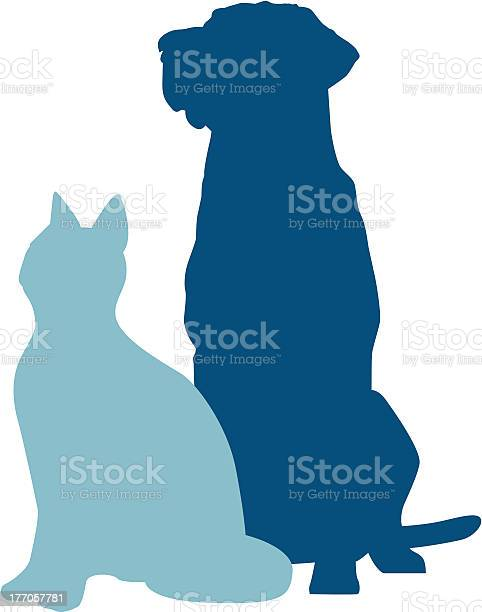 Dog cat sitting vector id177057781?b=1&k=6&m=177057781&s=612x612&h=5haigkaabn emicp absny6thrdmhfcmctomopqn 1k=