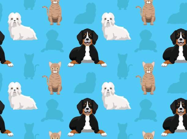 Dog Cat Wallpaper 2 vector art illustration