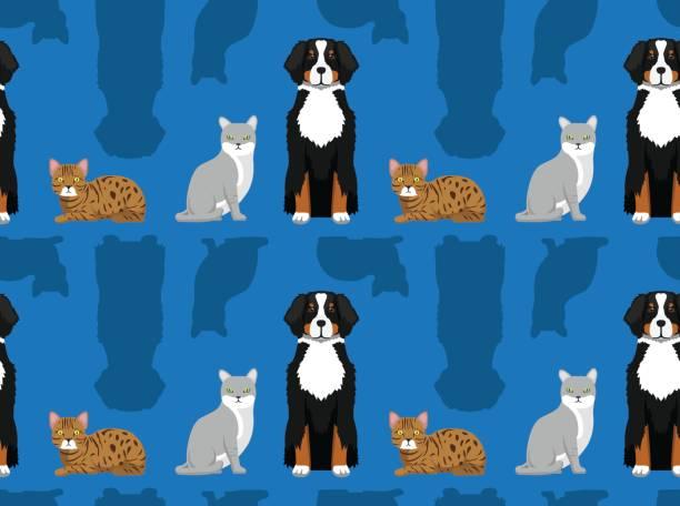Dog Cat Wallpaper 3 vector art illustration