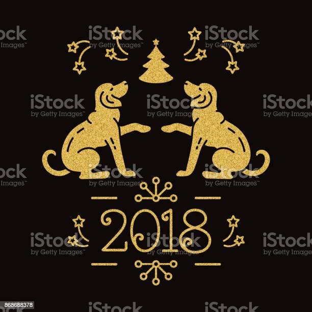 Dog christmas year of the dog 2018 chinese zodiac yellow golden dogs vector id868688378?b=1&k=6&m=868688378&s=612x612&h=re9t59l3froxxtj silhdsr9nf  x 99c 0e5 2mtp4=