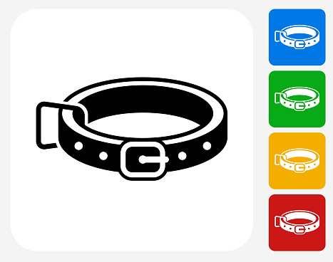 Dog Collar Icon Flat Graphic Design