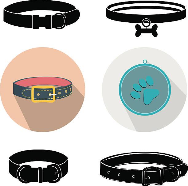 hundehalsband - hundehalsbänder stock-grafiken, -clipart, -cartoons und -symbole