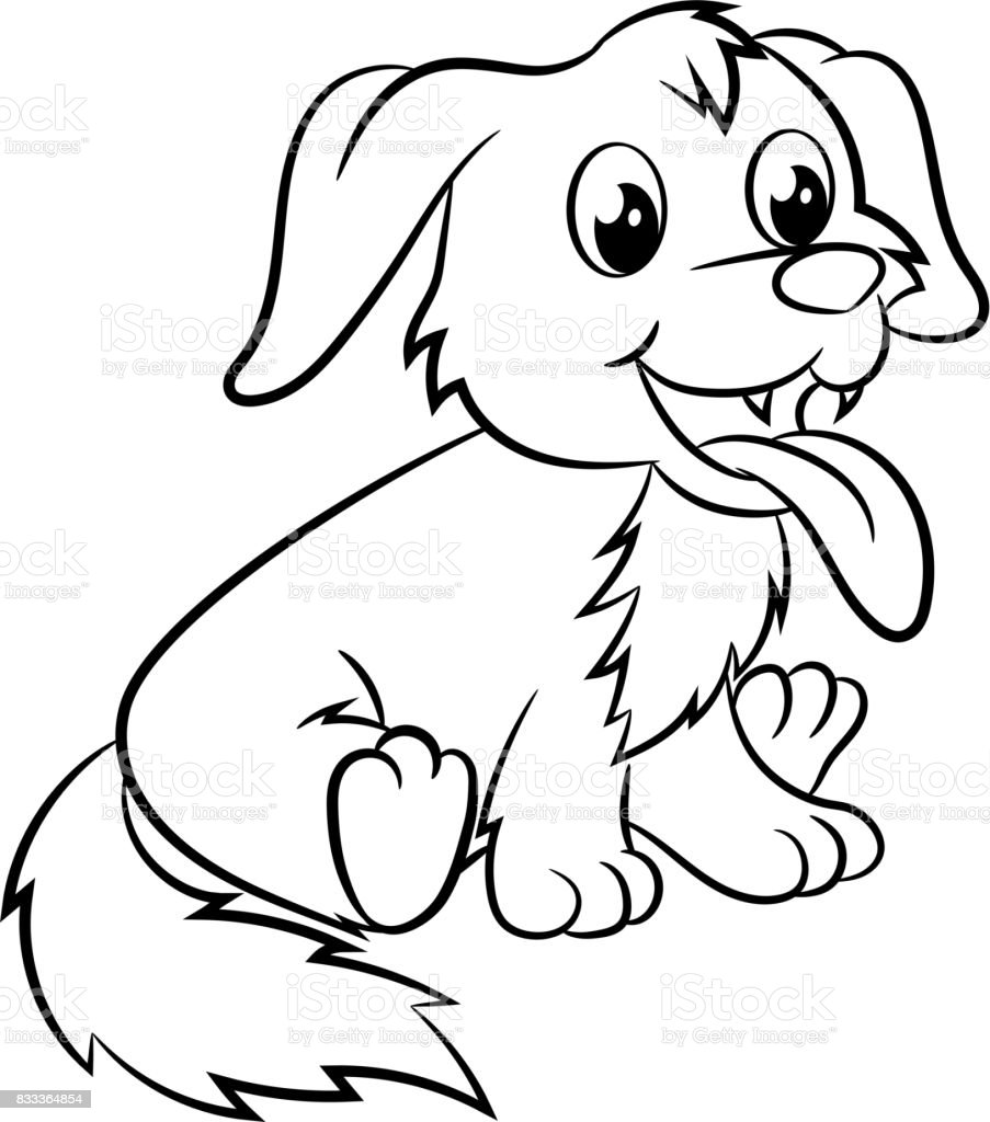 Dog Coloring Book Stock Vector Art More Images Of 2018 Istock