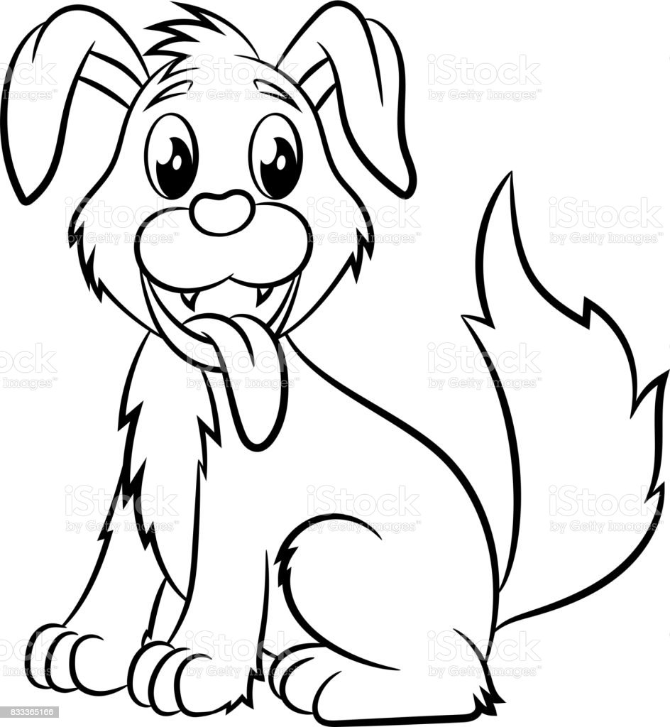 Dog Coloring Book Stock Vector Art More Images Of 2018 833365166