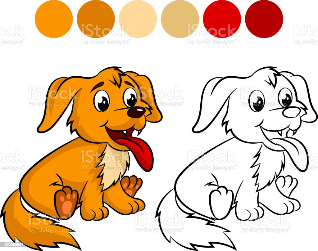 Dog Coloring Book Stock Illustration Download Image Now Istock