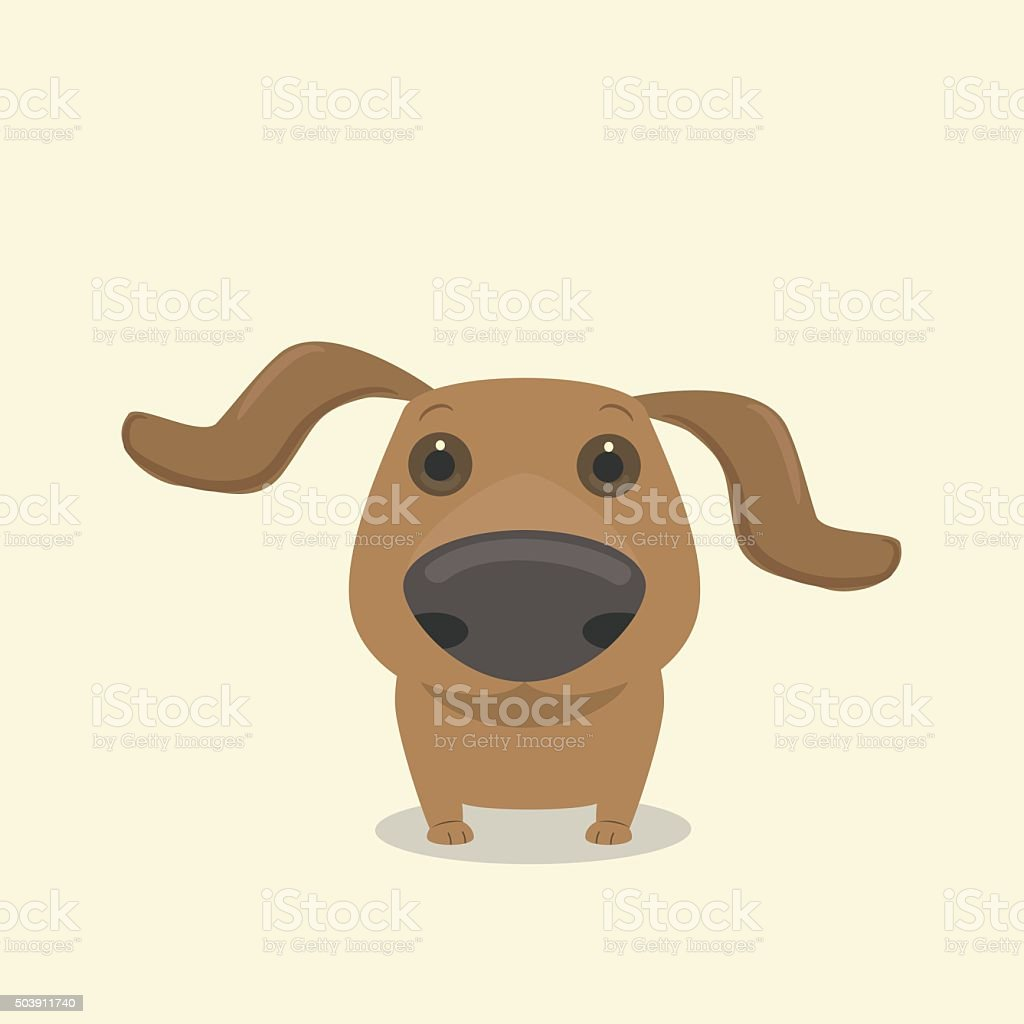 Dog dachshund's nose vector art illustration