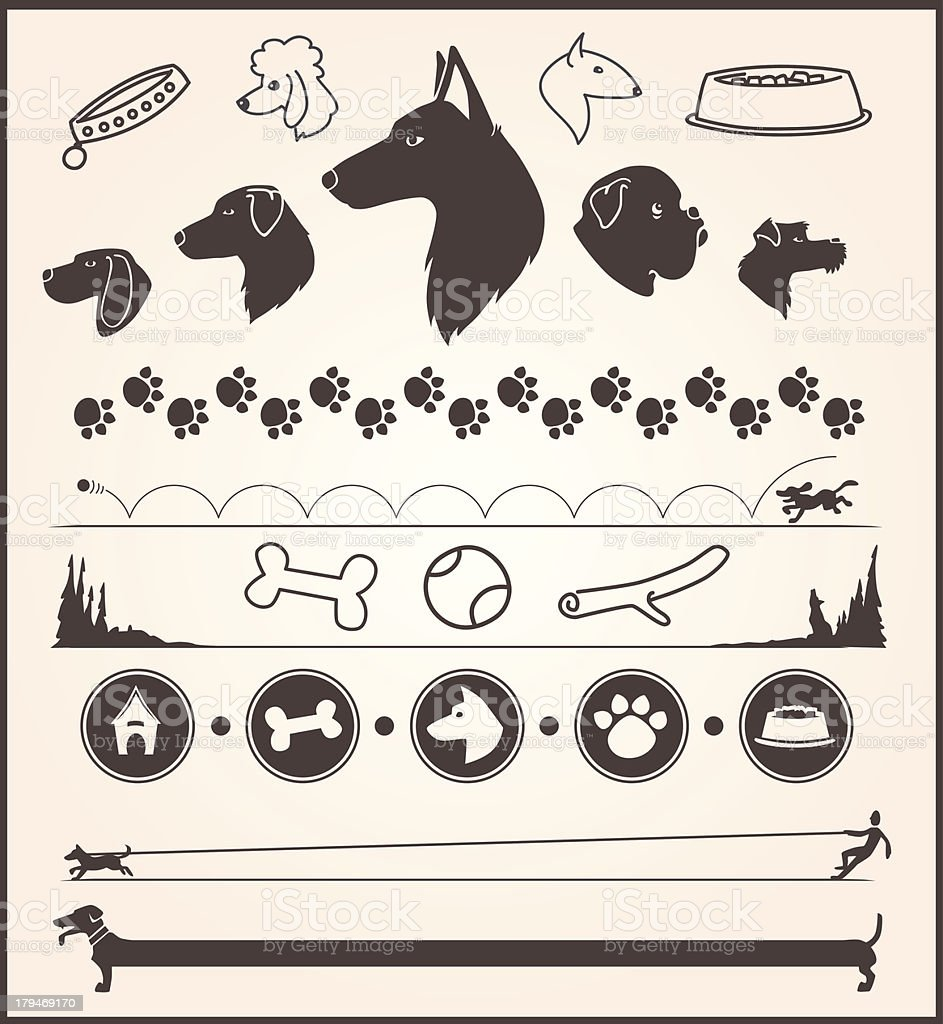 Dog Design Elements royalty-free stock vector art