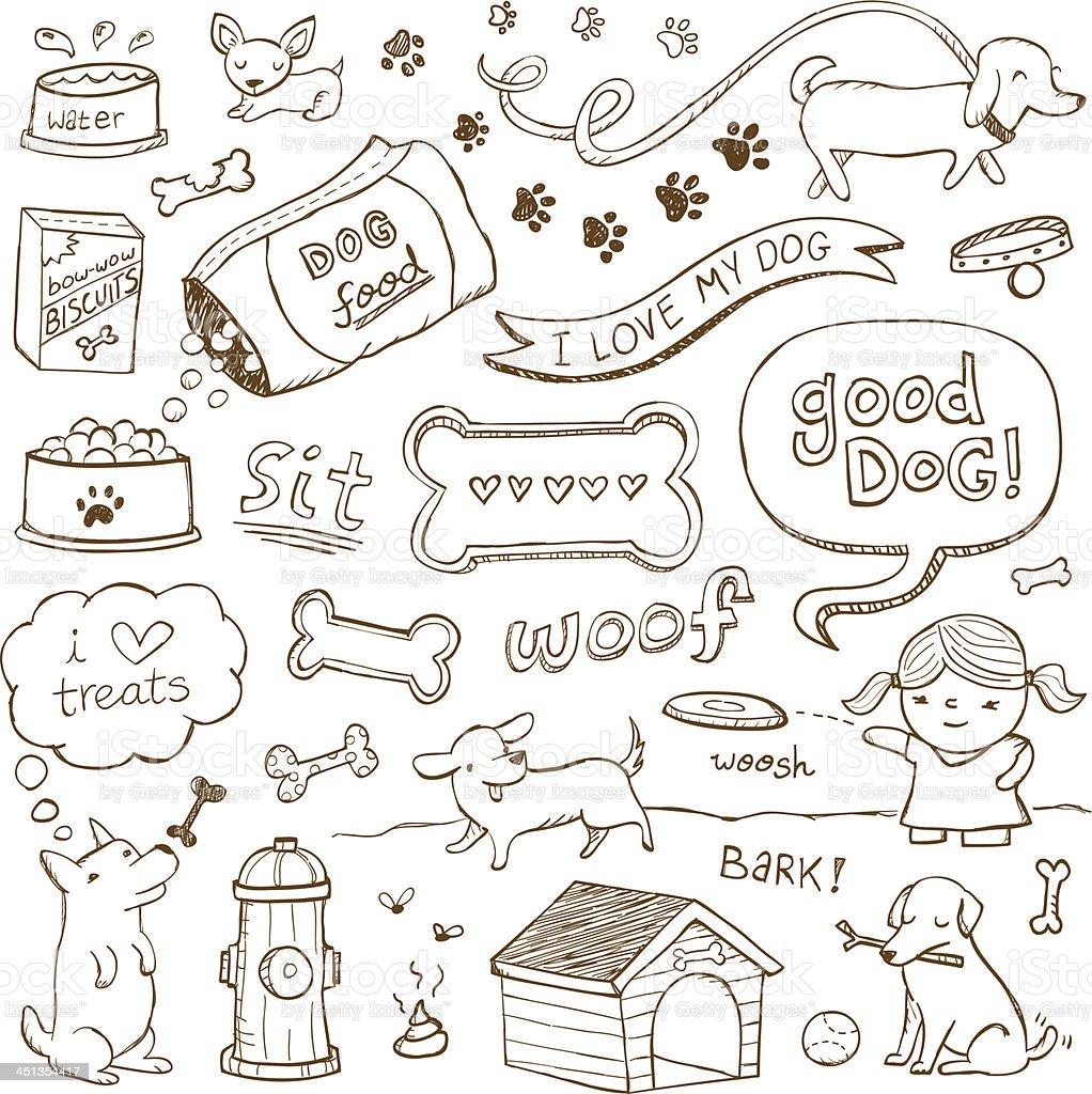 Dog Doodles royalty-free stock vector art