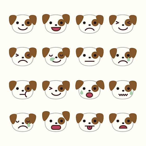 Dog Emoticons vector art illustration