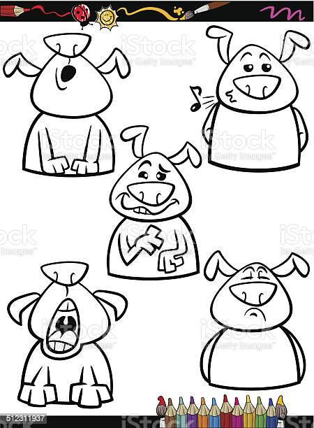 Dog emotion set cartoon coloring page vector id512311937?b=1&k=6&m=512311937&s=612x612&h=yizxhqbvpwzgn3xlqb irp4n zmvmiombozb2nxc0x4=