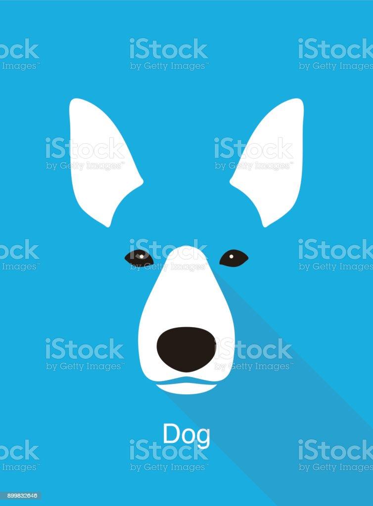dog face flat icon design, vector illustration vector art illustration