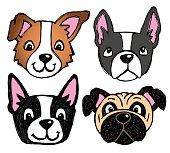 Dog Face Icons