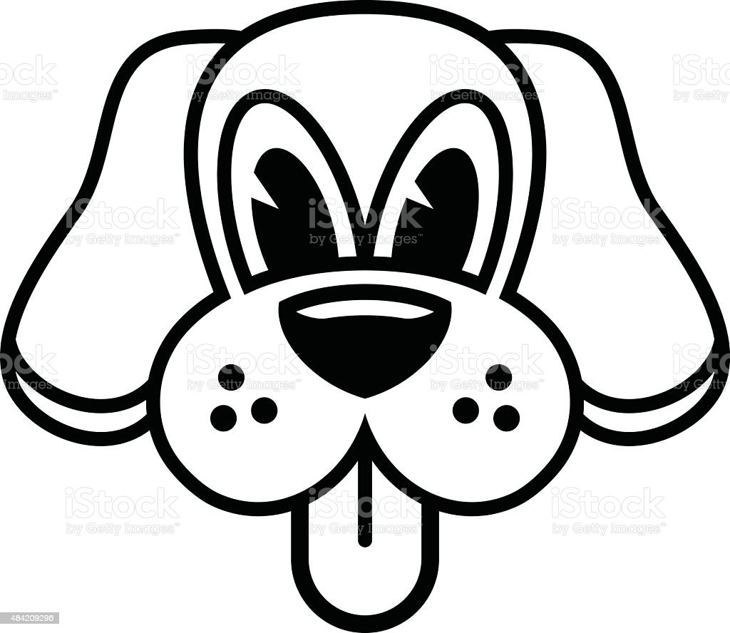 royalty free dog licking face clip art vector images rh istockphoto com boxer dog face clipart sad dog face clipart