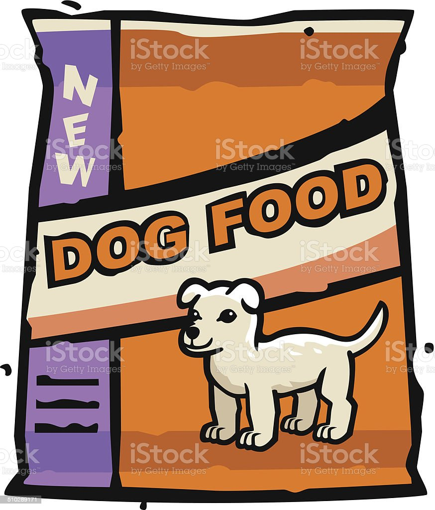 dog food bag stock vector art more images of bag 510289171 istock rh istockphoto com pet food clipart Dog House Clip Art