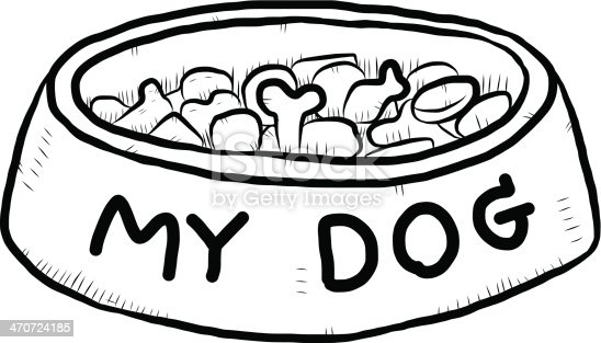 dog food bowl cartoon stock vector art amp more images of