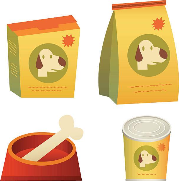 ilustrações de stock, clip art, desenhos animados e ícones de comida de cão - dog food
