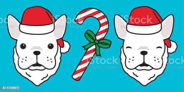 Dog french bulldog puppy candy cane christmas santa claus new year vector id874259922?b=1&k=6&m=874259922&s=612x612&h=f3qb6ez7czhg0roivqmf rztcvquxua3az 7mtv4t6u=